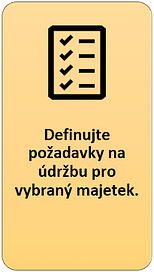 3: Definujte požadavky na údržbu pro vybraný majetek
