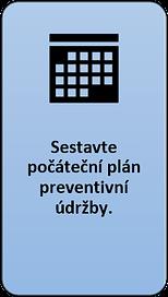 4: Sestavte počáteční plán preventivní údržby