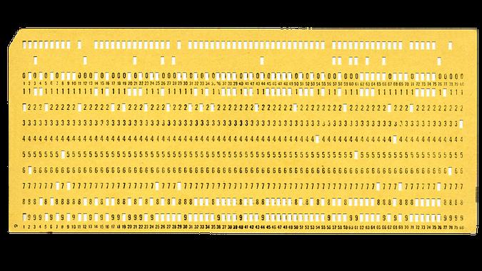 Ukázka děrného štítku