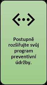 6: Postupně rozšiřujte svůj program preventivní údržby